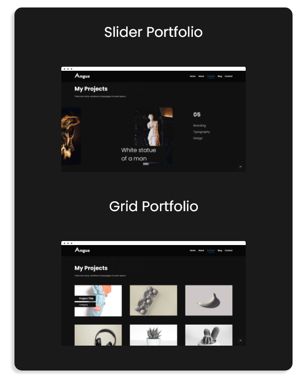 Angus - Personal Responsive One Page Portfolio Template - 3